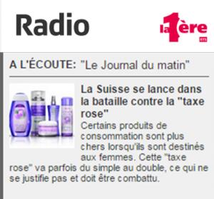 RTS la 1ère - taxe rose - 2014-11-18
